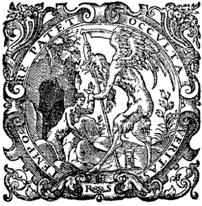 Illustration from the title page of one edition of New Atlantis by Sir Francis Bacon