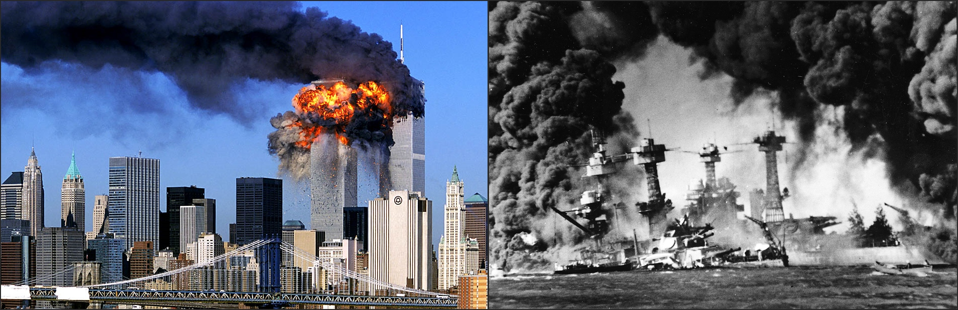 911 and pearl harbor More than any single, simple historical comparison, the 9/11 attacks elicited the comparison to the japanese attack on pearl harbor on dec 7, 1941.