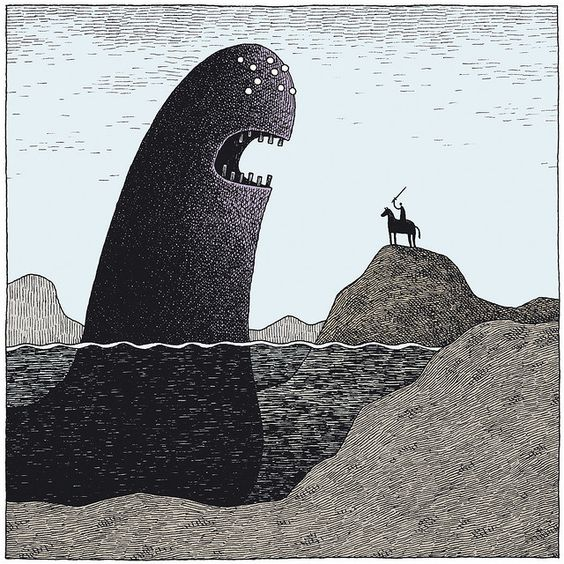 Lake Monster by Tom Gauld