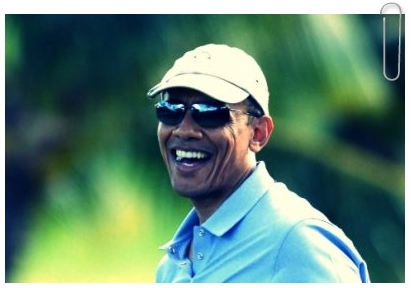 Former United States President Barack Obama having yet another relaxing break from his war-mongering on the 18th hole during his Hawaiian Vacation, 23 Dec 2013. (Rex Features via AP Images) During his eight years in the White House he played a total of 306 rounds of golf, more than any other president since Dwight Eisenhower. Clearly not worried about public sentiment as to whether playing golf while hundreds of U.S. servicemen and foreign civilians die abroad. Could it also be that this is where Obama received much of his Presidential tutoring?
